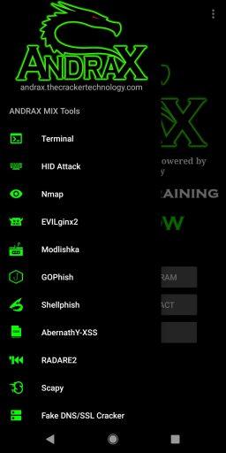 Andrax - перспективный аналог Kali Nethunter для Android