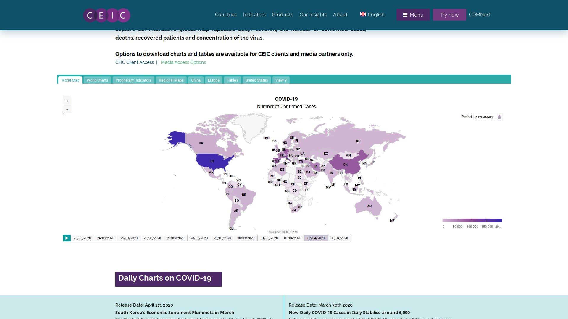 Карты распространения коронавируса SARS-CoV-2